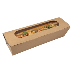 Tuck-top baguette box, kraft