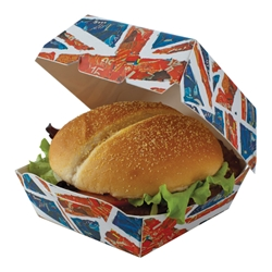 Union Jack Burger Box Union, Jack, Burger, Box, Chicken, Flag, English