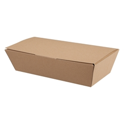 Paperboard box and lid (kraft)