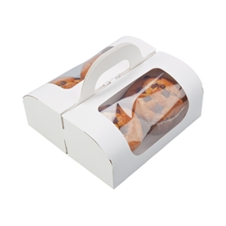Portable box with handle (White)