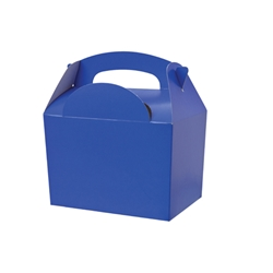 Dark blue paperboard box with handle