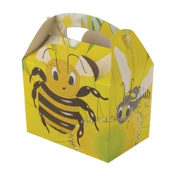 Bugs n Slugs paperboard box with handle