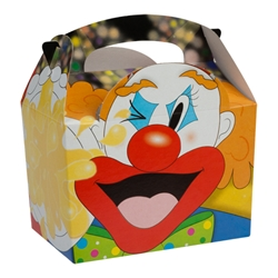 Circus paperboard box with handle