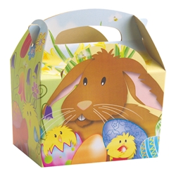 Easter paperboard box with handle