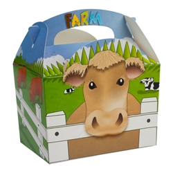 Farm paperboard box with handle