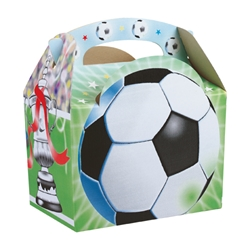 Football paperboard box with handle