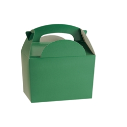 Green paperboard box with handle