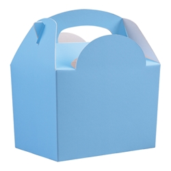 Paperboard box with handle (light blue)
