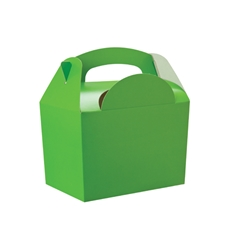 Lime paperboard box with handle
