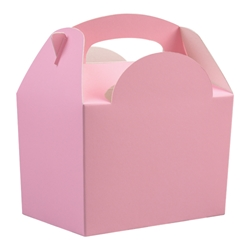 Paperboard box with handle (light pink)