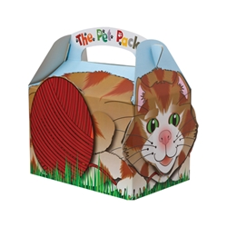 Pet Pack paperboard box with handle