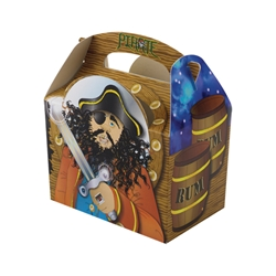 Pirate paperboard box with handle