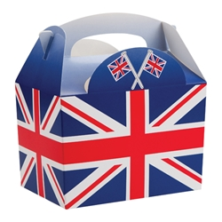 Union Jack Flag Party Box with Handle
