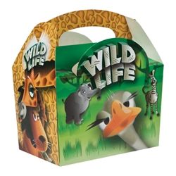 Wild Life paperboard box with handle