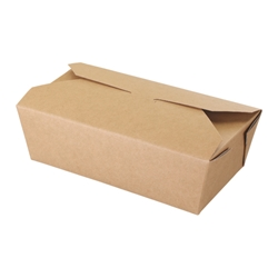 Rectangular Asian take-away carton (kraft)