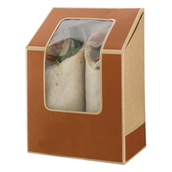 Cafe Today tuck-top tortilla pack (brown)
