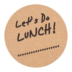 Lets Do Lunch Label