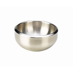 Stainless Steel Double Walled Dual Angle Bowl 16cm (Each) Stainless, Steel, Double, Walled, Dual, Angle, Bowl, 16cm, Nevilles