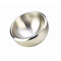 Stainless Steel Double Walled Dual Angle Bowl 24cm Diameter (Each) Stainless, Steel, Double, Walled, Dual, Angle, Bowl, 24cm, Diameter, Nevilles