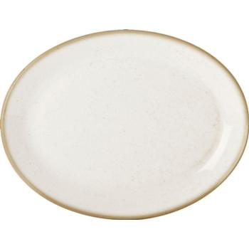 "Oatmeal Oval Plate 30cm/12"" (Pack of 6)"