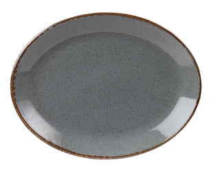 "Storm Oval Plate 30 x 23cm / 12"" x 9"" (Pack of 6)"