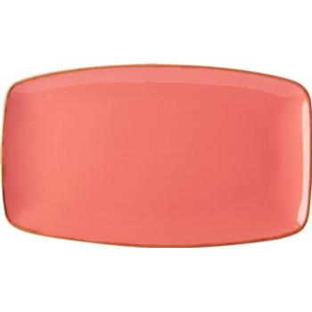 "Coral Rectangular Plate 31x18cm/12""x7"" (Pack of 6)"