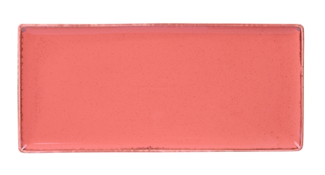 "Coral Rectangular Plate 35 x 15.5cm / 13  3/4"" x 6"" (Pack of 6)"