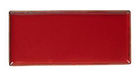"Magma Rectangular Plate 35 x 15.5cm / 13  3/4"" x 6"" (Pack of 6)"