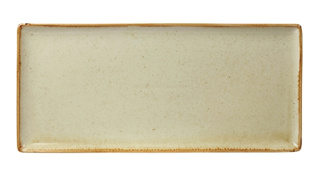 "Wheat Rectangular Plate 35 x 15.5cm / 13  3/4"" x 6"" (Pack of 6)"