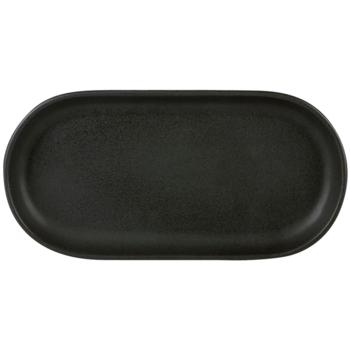 Rustico Carbon Oval Tray 30x 15cm (Pack of 12)