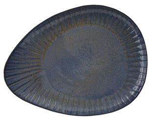 Aegean  Reactive Oval Plate 34cm (Pack of 4)
