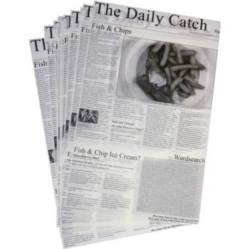 "Greaseproof - Daily Catch 27x42cm/10""x16"" (Pack of 500)"