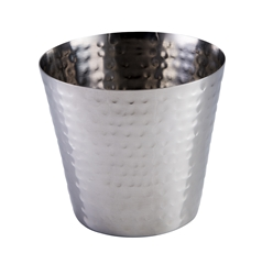 Hammered Finish Tapered Cup 9cm/3?? (Pack of 6)