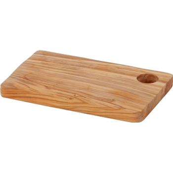 Rectangular Olive Wood Board with Hole 24.5x15.2x1.9cm (Pack of 1)