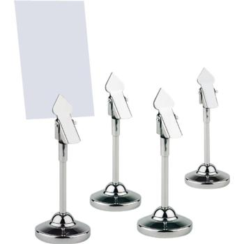 4 S/S Table Stands. Incl. Labels (Pack of 1)