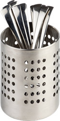 S/S Matt Finish Cutlery Basket 12cm (Pack of 1)