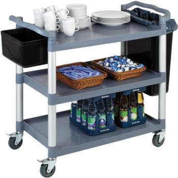 Polprop/Aluminium 3 Tier Serving Trolley (Pack of 1)