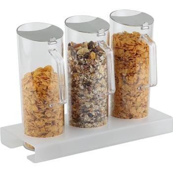 Cereal Bar, 3 Pitchers (1.5Ltr) S/S Airtight Lid (Pack of 1)