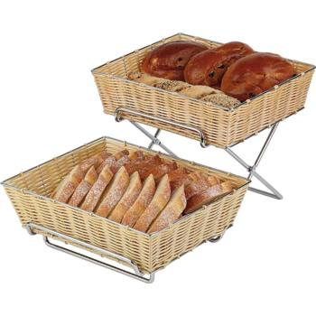 2 Tier Chrome Plated Foldaway Buffet Stand (Pack of 1)