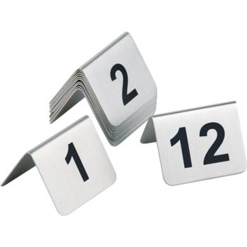 Satin Polished Table Numbers 1-12 (Pack of 1)