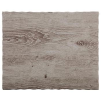 Melamine ?Wood? Tray 32.5x26.5cm (Pack of 1)