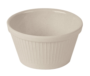Fluted Ramekin Bamboo Natural White 1oz (Pack of 1)