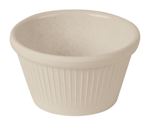 Fluted Ramekin Bamboo Natural White 3oz (Pack of 1)