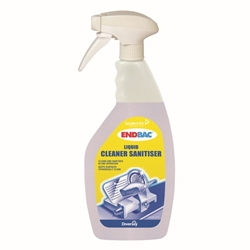 Endbac Liquid Cleaner/Sanitizer (6x0.75L Pack)