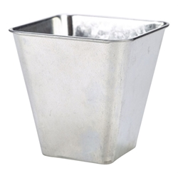Galvanised Steel Flared Serving Tub 10 x 10 x 10cm (Each) Galvanised, Steel, Flared, Serving, Tub, 10, 10, 10cm, Nevilles