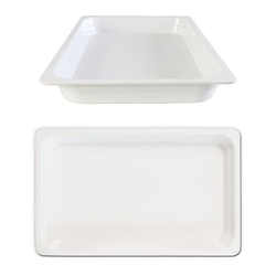 GN 1/1 40mm Deep Gastronorm Pan, Melamine, White