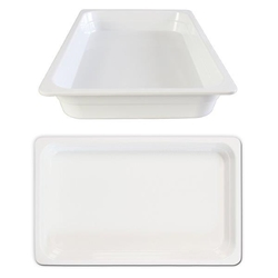 GN 1/1 65mm Deep Gastronorm Pan, Melamine, White