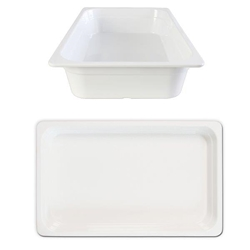 GN 1/1 100mm Deep Gastronorm Pan, Melamine, White
