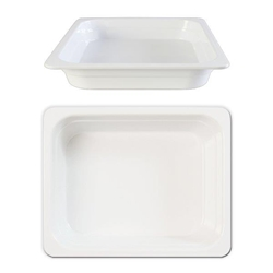 GN 1/2 40mm Deep Gastronorm Pan, Melamine, White