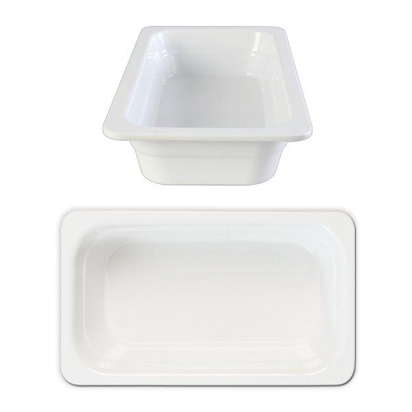 GN 1/2 65mm Deep Gastronorm Pan, Melamine, White